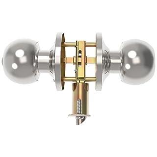 GLANICS Door Knob with Lock, Keyed Entry Door Knob, Door Lock with Key, Satin Stainless