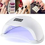 48W Nageltrockner UV LED Licht-Lampe Gelnägel-Trockner mit Zeitmesser,Lcd Display,Geeignet für alle Gel