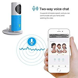 Clever Dog Wireless Security Wifi Cameras /Smart Monitor/Surveillance security camera with P2P, Night Vision, Record Video, Two-way Audio, Motion Detection, Alert message for Smartphone (Blue)   14