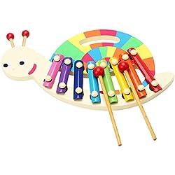Caracol Xilófono de Madera Desarrollo de Instrumentos Juguetes Sonido Instrumento Musical para Niños Bebés