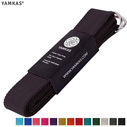 Yamkas Yoga Gurt 100% Bio Baumwolle mit Verschluss, yogagurt 183cm / 300cm lang
