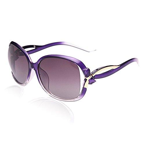 DUCO Damen Sonnenbrille Polarisiert stilvolle Star Brille 100% UV-Schutz 2229 (Violett)