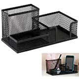 Onmall Multifuction Stationery Desk Organizer Metal Mesh Desktop Office Pen Pencil Holder Study Storage