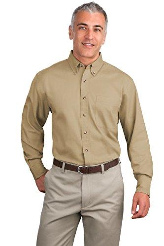 Port Authority® Tall Long Sleeve Twill Shirt. TLS600T Khaki 4XLT (Port Authority Twill Shirt)