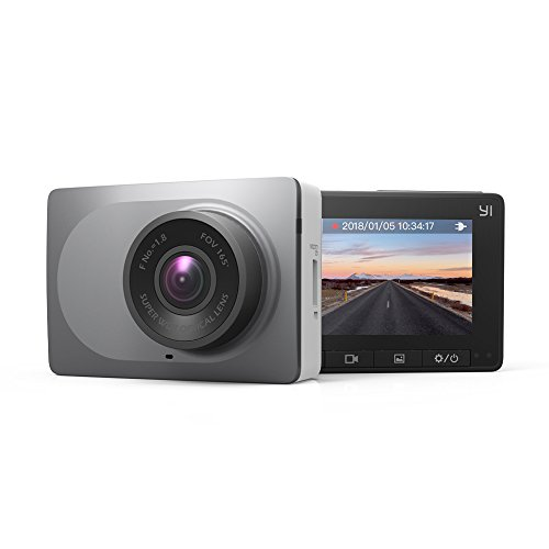 YI Dash Cam 1080p 60fps, 165° Grand Angle voiture DVR Tableau de bord caméra Night Vision Video Recorder avec WDR, G-capteur, Enregistrement en boucle et détection de mouvement