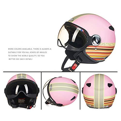 HXYT Elmetto Protettivo da Motociclista da Ragazza, Casco DOT/Casco Universale da Motociclista (M, L, XL, XXL),XL