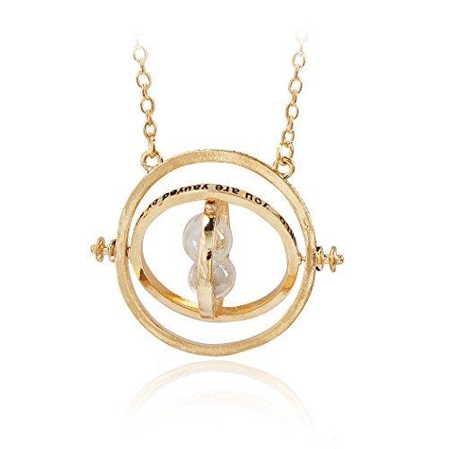 Harry Potter inspiriert Jane Stone Halskette Anhänger Hermione Granger Time Turner Sanduhr aus Silikon; einfaches Wenden von Zeiten -