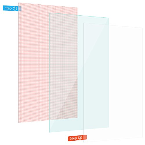 Nauci Display-Schutz-Folie Handy 2X Universal Display Schutz bis 6 Zoll Schutzfolie