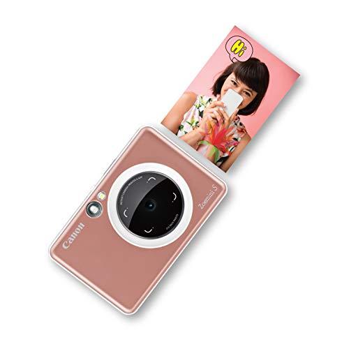 Canon Zoemini S digitale 8 MP Sofortbildkamera und Mini-Fotodrucker (Sucher, Ringblitz/ LED-Blitz, Micro-SD Kartenslot, Canon Mini Print App, ZINK-Druck tintenfrei), rose gold
