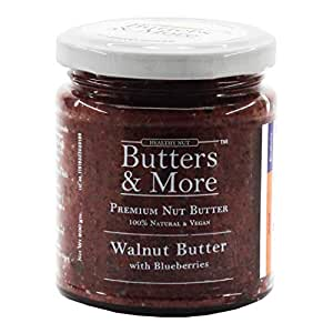 Butters & More Vegan Walnut Butter with Natural Blueberries (200G) No Artificial Flavours Or Colour.