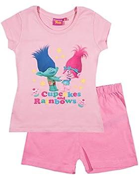 Trolls Mädchen Shorty-Pyjama - pink