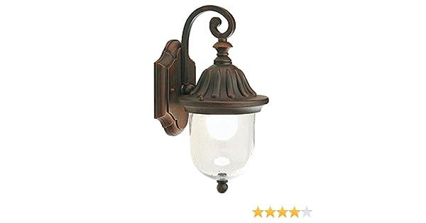 Plafoniera Da Esterno Ruggine : Applique in basso lampada classica da parete per esterno ruggine