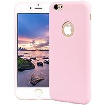 Funda iPhone 6 Plus, Carcasa iPhone 6S Plus Silicona Gel, OUJD Mate Case Ultra Delgado TPU Goma Flexible Cover para iPhone 6 Plus/6S Plus - Rosa