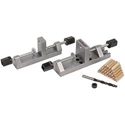 Wolfcraft 3750000 Universal-Holzdübel-Set mit Holzdübeln, Tiefenstopp und Bohrer Ø 8 mm Ø 6, 8, 10