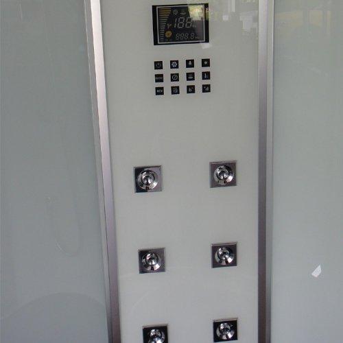 EAGO Dampfdusche DZ955F8 weiß/120×90/rechts - 2