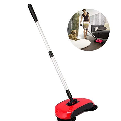 JUEYAN 3 in 1 Automatische Hand Push Sweeper 360° Kehrbesen Handbesen Handfeger Kehrbeselchen Kehrwisch Hand Push Sweeper Bartwisch Handeule Eule Haushalt Reinigung Dustpan Kehr Kehre