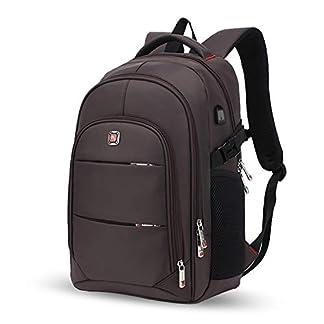 FANDARE Unisexo Mochila, Mujer Bolsas Escolares, 15.6-17 Pulgadas Laptop Rucksack, Hombre Mochilas Casual, Adolescente Estudiante Daypack Poliéster