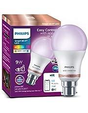 Philips Smart Wi-Fi LED bulb B22 9-Watt WiZ Connected (Pack