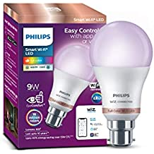 Philips Smart Wi-Fi LED bulb B22 9-Watt WiZ Connected (Pack of 1)