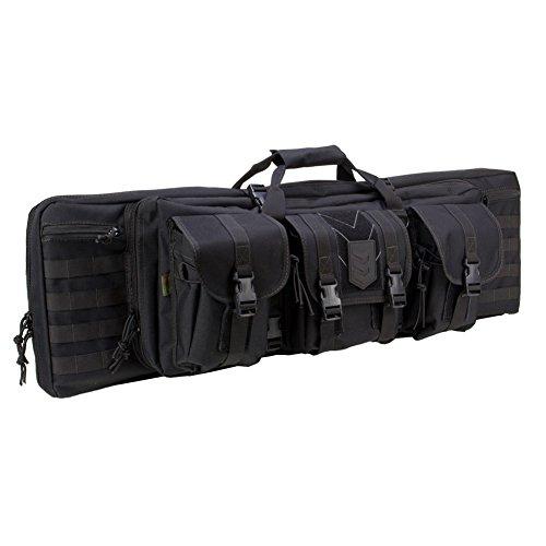 3V Gear–Ranger 42Gewehr-Weichkoffer für zwei Gewehre, gepolstert, zur Aufbewahrung von Gewehren, Rucksack mit Außentaschen, integrierte Hüllen für Pistole und Magazine