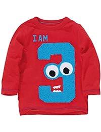 Mitlfuny Primavera Otoño Ropa de Bebé Niñas Niños Camisetas de Manga Larga Sudaderas Número Dibujos Animados Estampado Blusas Algodón Cuello Redondo Camisas Grande Tops Unisex Niño 1-6 Años