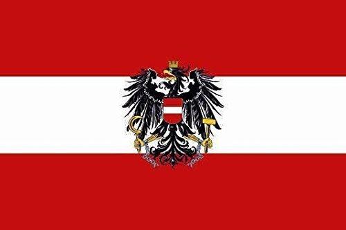 U24 Fahne Flagge Österreich mit Adler Bootsflagge Premiumqualität 30 x 45 cm