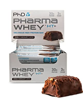PhD Pharma Whey HT+ Bar (12 bars) Double Chocolate NEW! by PhD Nutrition