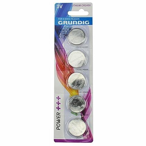 2x 5x Grundig CR2450 3V Lithium Batterie Knopfzelle Uhren