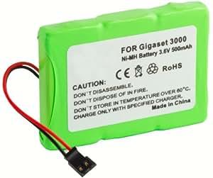 mumbi Ersatz Akku 500mAh Ni-MH für Siemens Gigaset T-Sinus 3000 micro 3010 micro 3015 micro T-sinuS 45M
