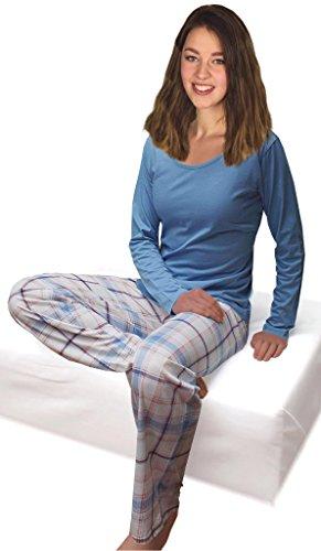 Camicia a maniche lunghe da donna in acciaio inox Blu