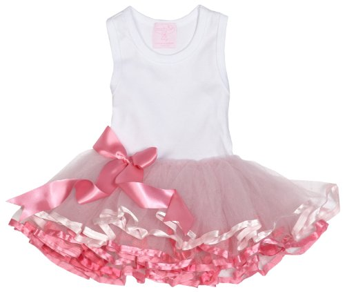 Mud Pie 173739 Tiny Dancer Ribbon Tutu Dress Kleid weiß Tütü - Pie Mud Kleider