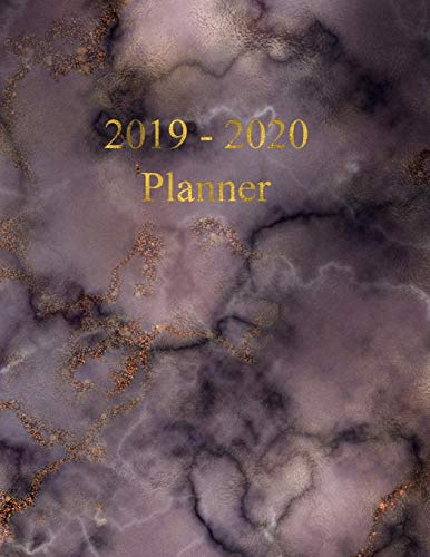 2019 - 2020 Planner: Academic and Student Planner - July 2019 - June 2020 - Weekly and Monthly Planner - Organizer & Diary - To do list - Notes - ... Dark Marble with Gold lettering - A4 size