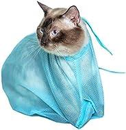 Mumoo الدب الأزرق قابل للتعديل متعددة الوظائف القط غسل حقيبة دش حقائب شبكة الحيوانات الأليفة الأظافر التشذيب ا