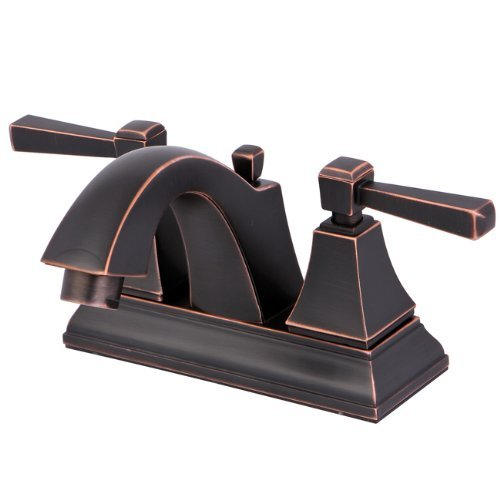 Lead Free Centerset (Kingston Brass FS4646DL Monarch 4-Inch Centerset Lead Free Lavatory Faucet with Retail Pop-Up Drain, Naples Bronze by Kingston Brass)