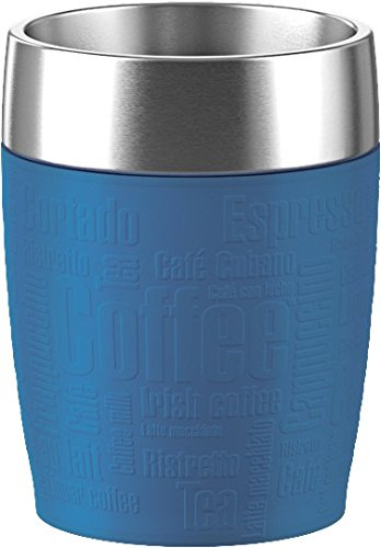 emsa Isolierbecher TRAVEL CUP, 0, 20 L., Manschette blau