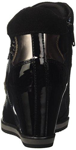 Geox Damen D Illusion B Hohe Sneaker Schwarz (Black)