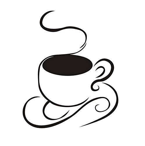 Zybnb Kaffeetasse Vinyl Wandaufkleber Wasserdicht KunstRestaurant Küche Entfernbare Wandkunst Wandbild Diy Benutzerdefinierte Farbe Wohnkultur 58X71 Cm