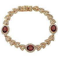 Yoursfs - Braccialetto con gemme, placcato in oro rosa 18k, cristallo austriaco, accessorio di moda