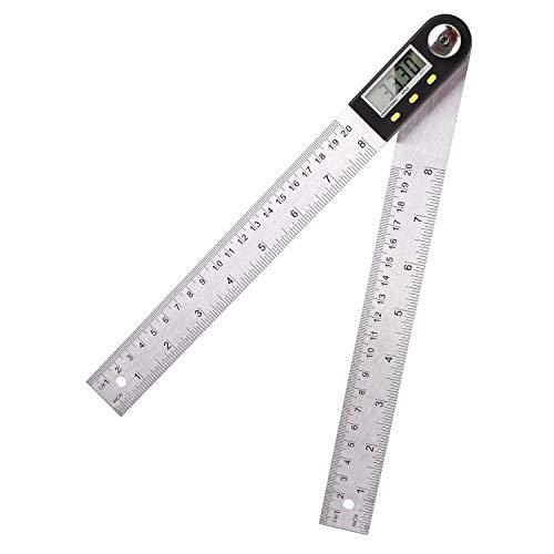 FIXKIT Digitaler Winkelmesser mit LCD Anzeige, Feststellfunktion, Automatische Abschaltfunktion, Länge: 400mm