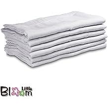LittleBloom - Retales de tela (100% muselina de algodón, cuadrados)