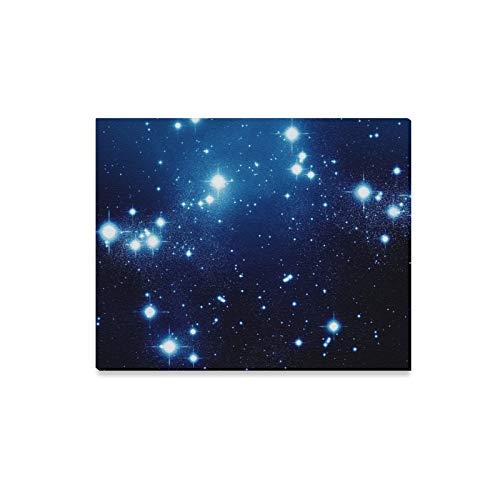 QuqUshop Wandkunst Malerei Nachthimmel Volle Sterne Drucke Auf Leinwand Das Bild Landschaft Bilder Öl Für Zuhause Moderne Dekoration Druck Dekor Für Wohnzimmer -