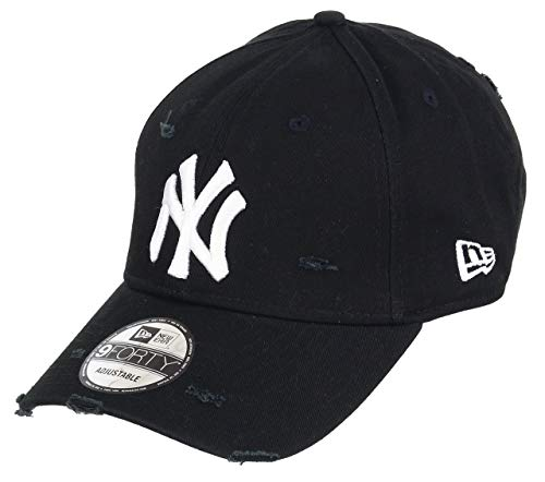 b51b13cb New Era New York Yankees Schwarz New Era Cap Verstellbar 9forty Distressed  Herren Damen - One-Size