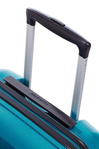 41XeeLReXSL - American Tourister Bon Air Spinner M Maletas y trolleys, 66 cm, 53 L, Azul (Azul)