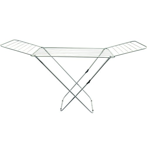 home-vida-winged-folding-clothes-airer-metal-white