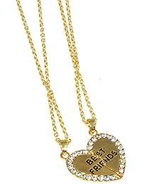 Oumosi - Conjunto de colgante en forma de corazón y cadenas para hermanas o mejores amigas