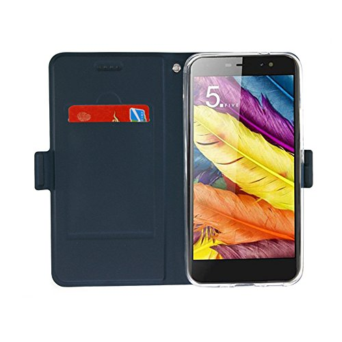 TopACE Flip Cover Case / Custodia / Guscio di Alta Qualità per Apple iPhone 8 plus Smartphone (Blu) Blu