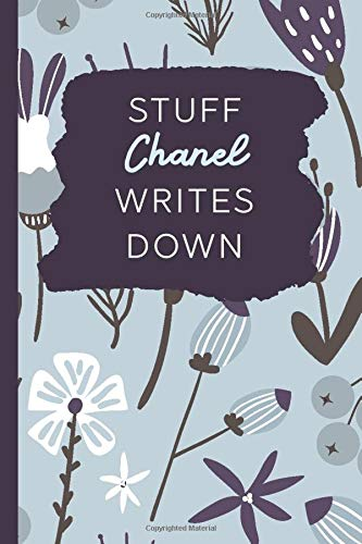 Stuff Chanel Writes Down: Personalized Journal / Notebook (6 x 9 inch) with 110 wide ruled pages inside [Soft Blue Pattern] -