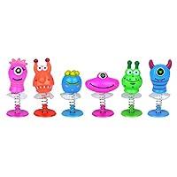 6 Assorted Jump Pop Up Monster Toys / Childrens Kids Party Bag Fillers Boys