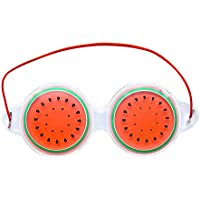 Lubier Creative Fruit Travel Shading Mascarilla Natural para Ojos Protección de Ojos con Siesta Tanto Caliente como fría Size 19cm*7cm (Rouge)
