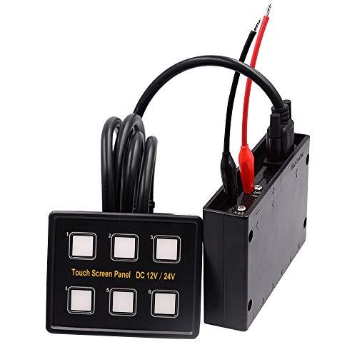 Car Touch Control Switch, LED Ship Cab Modifikation Control Scheinwerfer Schalter 6-Bit mit Licht 12-24V wasserdichten Überlastschutz High-performance Powersports Batterie
